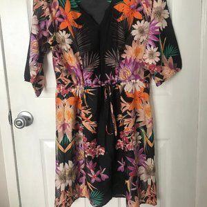 Collective Concepts Hawaiian Print Dress- Large